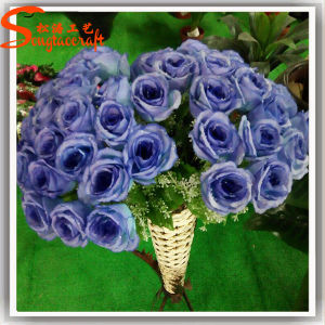 Indoor Decorative Plastic Artificial Real Touch Rose Flower pictures & photos