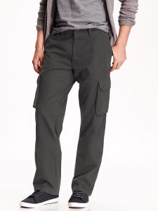 Men Olive Colour 100% Cotton Cargo Pant pictures & photos