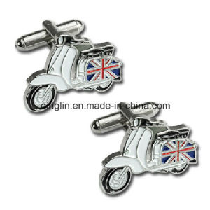 Vespa Scooter Pewter Cufflinks and Tie Clip Set Biker Gift Boxed
