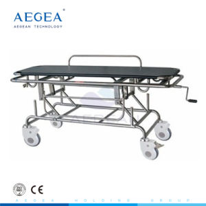 Hospital Stainless Steel Emergency Patient Transport Stretcher pictures & photos