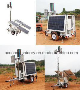 Solar-Powered Mobile Light Tower 600W
