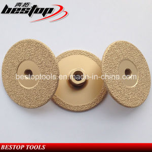D100mm M14 Threaded Brazed Vanity Diamond Grinding Wheels pictures & photos