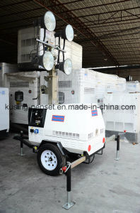 T500 Series with 5kVA Generator Mobile Light Tower Generator Set/Diesel Generator Set/Diesel Generating Set/Genset/Diesel Genset