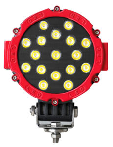China Hot Car Truck Auto Led Spotlight Modified Dome Light Off Road Vehicles Outside The Bright Lights Front Fog Red And Black