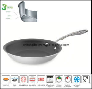 3 Layer Nonstick Fry Pan Frying Pan pictures & photos