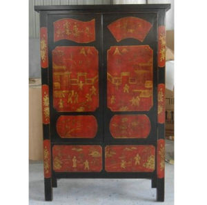 Antique Painted Chinese Wardrobe Lwa147 pictures & photos