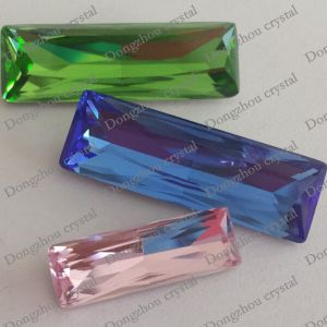 Factory Direct Sales K9 Point-Back Crystal Fancy Rectangle Stone (DZ-3013) pictures & photos