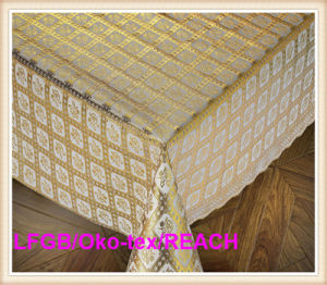 PVC Lace Coffee Table Cloth on Roll Factory Hot Sale pictures & photos