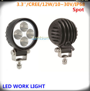 12W Spot LED Work Light for 4X4 Offroad Jeep pictures & photos