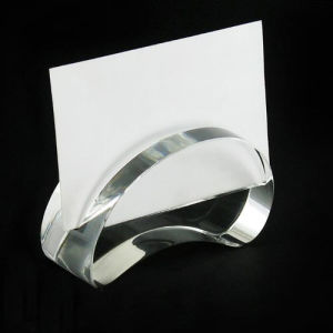Diamond Shape Crystal Card Stand, Glass Card Holder pictures & photos