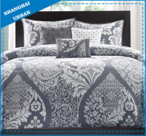 7 Piece Gray Totem Polyester Comforter Bedding Set pictures & photos