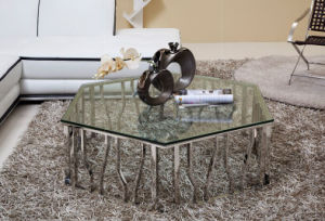 Simple Style Glass Coffee Side Table Set for Sale (CCT-027)