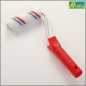 "4"" Red and Blue Strips Nylon Mini Paint Roller with Plastic Handle"