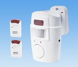 Wireless PIR Motion Sensor Alarm with 2 Remote Control pictures & photos