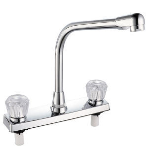 ABS Kitchen Faucet with Two Handle (JY-1025) pictures & photos
