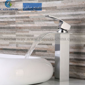 Square High Basin Waterfall Faucet Mixer for Bathroom pictures & photos