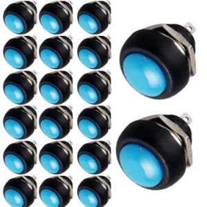 Toggle Switch 20 X Blue 12mm Mini Momentary on/off Round Push Button Switch pictures & photos