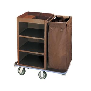 5 Star Hotel Housekeeping Trolley with Door and Lock pictures & photos