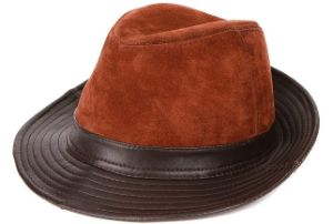 Suede Leather Fedora Hat