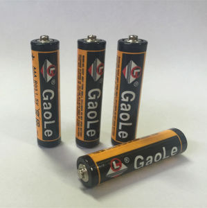 1.5V R03 AAA Carbon Zinc Battery (4PCS Shrink Pack) pictures & photos