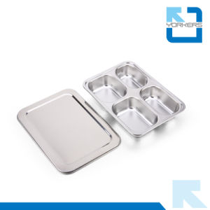 Factory Price 18/8 High Quality Stainless Steel Lunch Tray pictures & photos