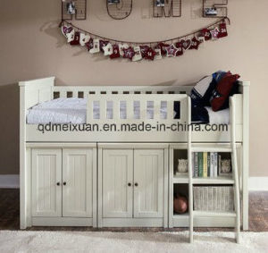 Custom Children Bed Bed with Slide Wood Elevated Bed Storage Closet Bookcase Put Bed (M-X3739) pictures & photos