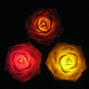 Home Decorated Flickering Outdoor Waterproof Battery Operated Plastic LED Peony Flower pictures & photos