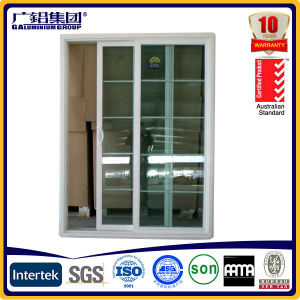 European Style White Color Aluminium PVC Sliding Window with Grills pictures & photos