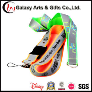 Sublimation Printed Glow in The Dark Refelective Polyester Lanyard for Badge/ID Card