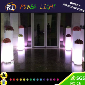 Flashing Tall Round LED Lighting LED Planter Pot pictures & photos
