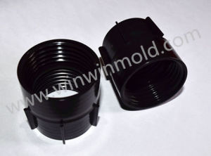 2 Cavity Hydraulic Cylinder Core Pull Threaded Locking Nut Plastic Injection Mold pictures & photos