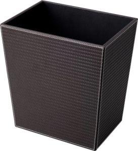 Leatherette Waste Bin with Plastic Inner Liner for Hotel Room pictures & photos