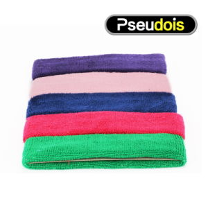 Soft Feeling Cotton Fabric Colorful Headband Sweatband for Outdoor Sports pictures & photos