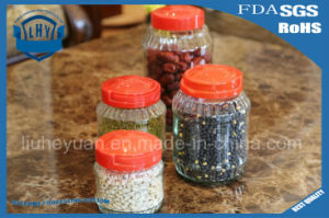 Lead Free Transparent Glass Storage Jar