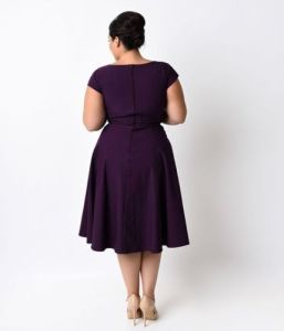 XL-5XL Plus Size Purple Sexy Little Dress pictures & photos