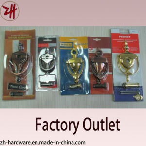 Zinc Alloy Door Knocker with Door Viewer or Name Card