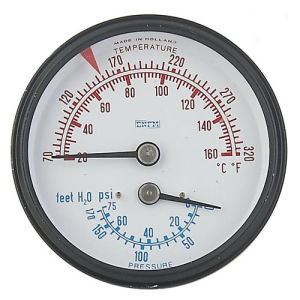 Back Connection Temperature-Pressure Indicator