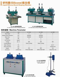 Liquid Silicone Brand Making Machine for Fabric/Garment/Cloth pictures & photos