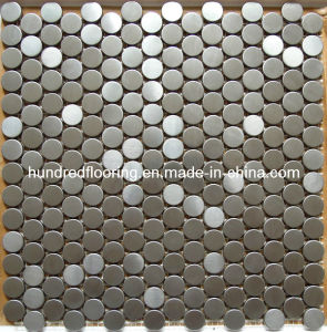 Round Silver Stainless Steel Metal Mosaic (SM235) pictures & photos