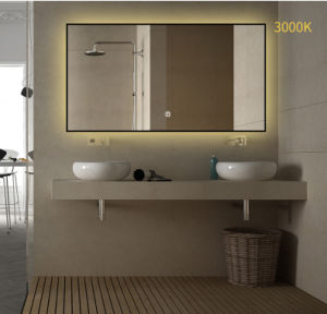 China Various Framed Color Warm Lighting Large Led Bathroom Mirror For House Apartment Decoration China Hotel And Apartment Illuminated Mirrors Plywood Mirror Cabinet For Motel And Apartment