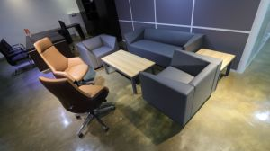 Elegant Office or Lobby or Lounge Area Leather Sofa (SF-1060) pictures & photos