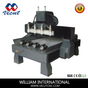 Furniture Carving Rotary 3D Wood Router (VCT-7090R-4H) pictures & photos
