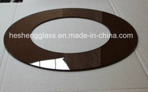 6mm Brown Circular Ring Tempered Glass with CCC Certificate