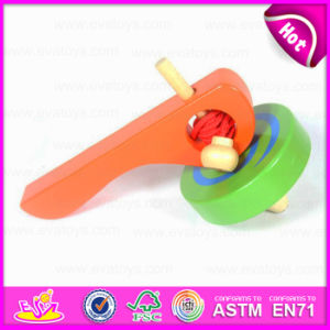 New Funny Promotional Classic Toys Wooden Spinning Top Toy for Children W01b018 pictures & photos