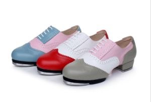 Unisex Soft Cow Leather Tap Shoes for Both Men and Women