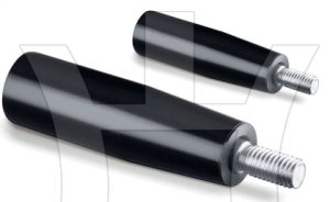 Balck Revolving Handle with Threads Bolt