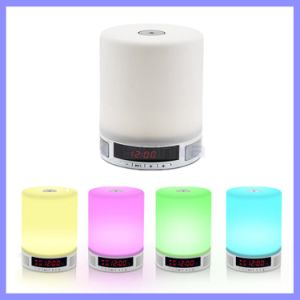 Active Magic TF LED Bedroom Speakers 5W Touch Reader Lamp Speaker with Colorful Light pictures & photos