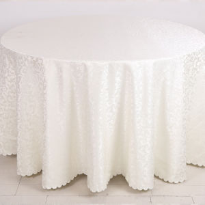 Factory Wholesale Hotel Linen White Color Hotel Table Cover