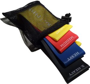 Colored 4 Resistance Levels Latex Exercise Bands