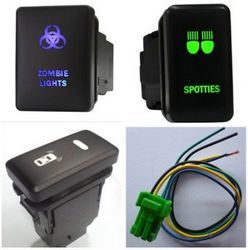 Blue / Green LED Light with 5 Pins Toyota Laser Engraving Push Button Switch pictures & photos